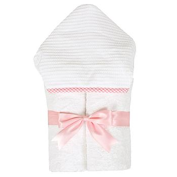Pink & White Gingham Hooded Towel