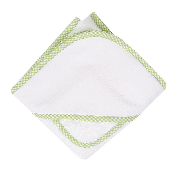 Lime & White Gigham Towel & Wash Set