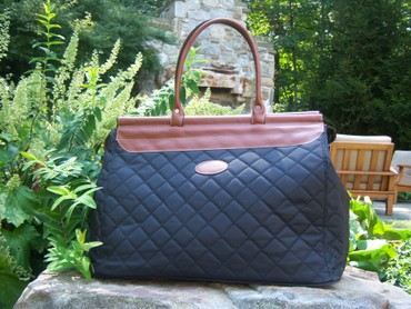 Quilted Black Weekender Bag